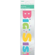 Satin Big Sister Baby Shower Sash, Package