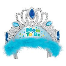 Blue Mom to Be Baby Shower Tiara