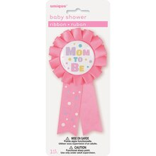 Pink Mom to Be Baby Shower Award Ribbon