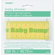 Baby Shower Baby Bump Measuring Tape Game, Package