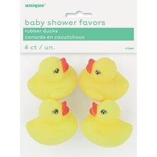 Rubber Duck Baby Shower Favors, 4ct