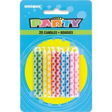 Assorted Color Diamond Dot Birthday Candles, 20ct