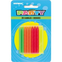 Neon Birthday Candles, Assorted 20ct