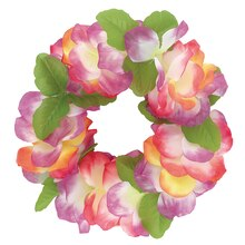 Fabric Fancy Rainbow Lily Lei, 40""