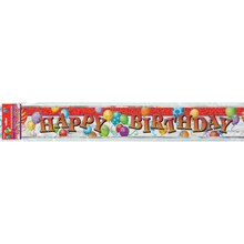 Foil Birthday Balloons Banner, 12 Ft.