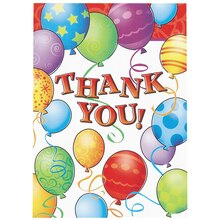 Birthday Balloons Thank You Notes, 8ct