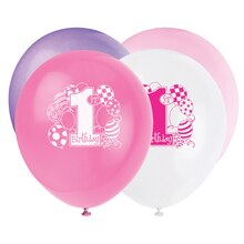 "12"" Latex Pink Balloons 1st Birthday Balloons"