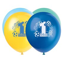"12"" Latex Blue Balloons 1st Birthday Balloons"