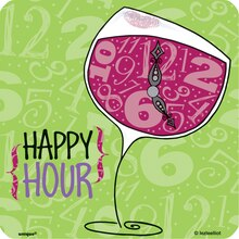 Wine Hour Coasters
