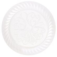 "9"" Fluted Clear Plastic Plates, 10ct"