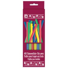 Smoothie Straws, Assorted 40ct, Package