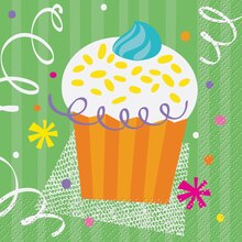 Cupcake Party Beverage Napkins, 16ct