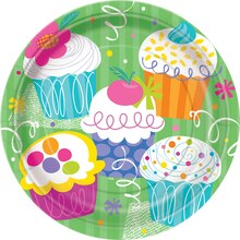 "9"" Cupcake Party Dinner Plates, 8ct"