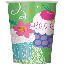 9oz Cupcake Party Paper Cups, 8ct