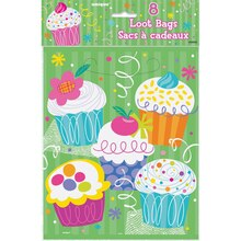 Cupcake Party Favor Bags, 8ct