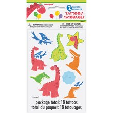 Dinosaur Party Tattoo Sheets, 2ct