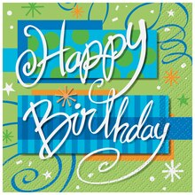 Bright Birthday Beverage Napkins, 16ct