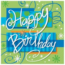 Bright Birthday Luncheon Napkins, 16ct