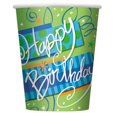 9oz Bright Birthday Paper Cups, 8ct