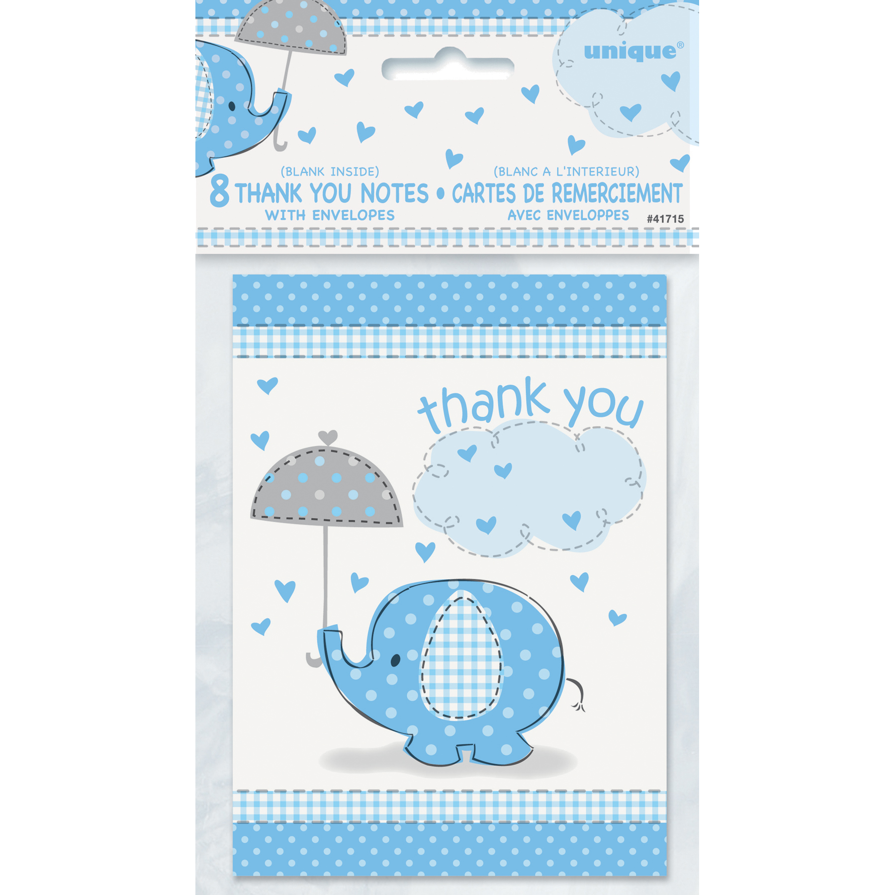 Blue Elephant Baby Shower Thank You Notes – Baby Shower Thank You Notes