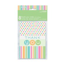 Pastel Baby Shower Thank You Cards, 8ct