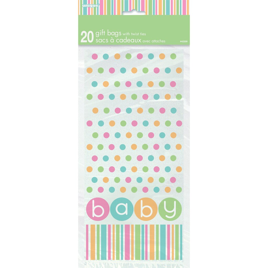 pastel baby shower cellophane bags baby shower supplies and favors
