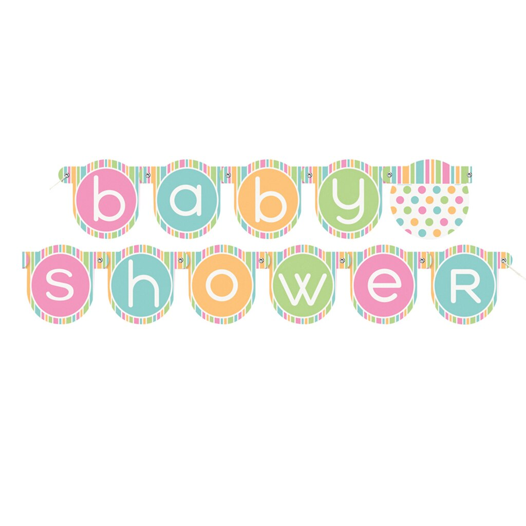 Baby Shower Custom Banners: Pastel Baby Shower Banner