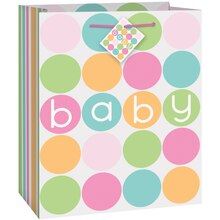 Medium Pastel Baby Shower Gift Bag