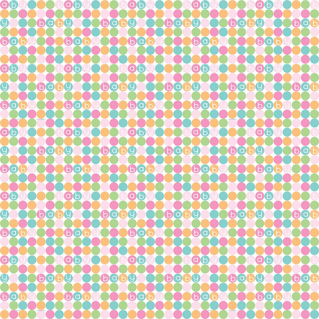 Pastel Baby Shower Wrapping Paper Gift Wrap