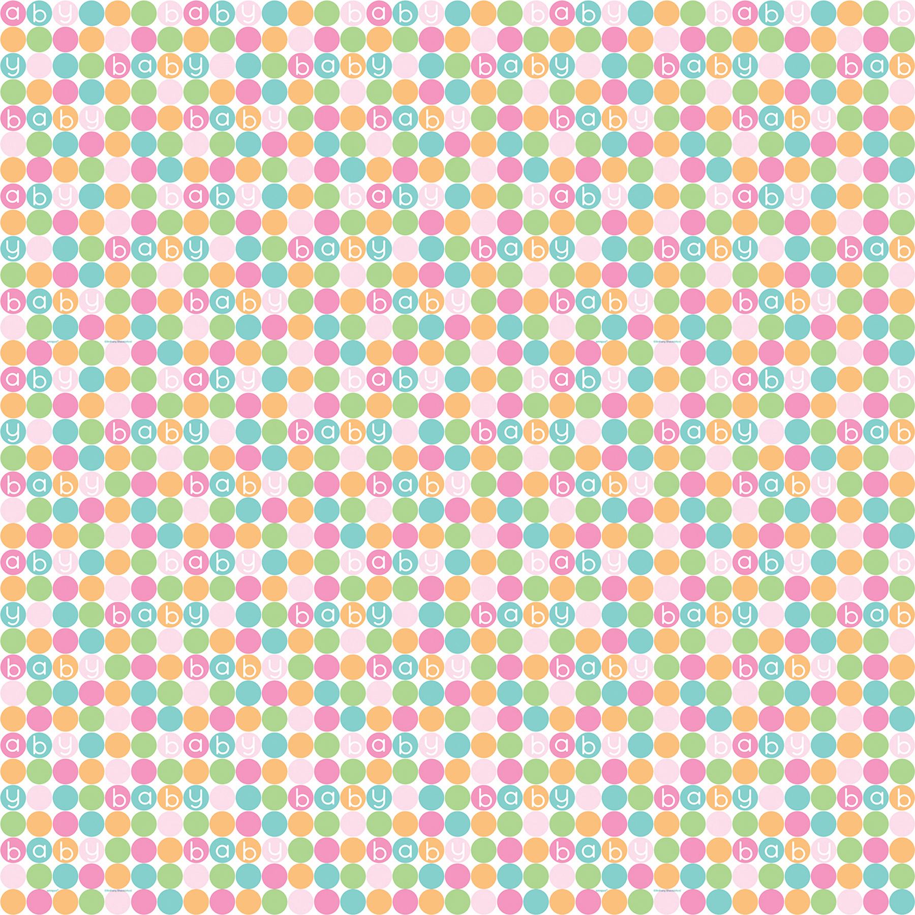 Pastel Baby Shower Wrapping Paper