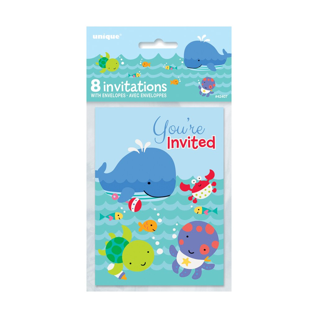 Under The Sea Invitations | 1st Birthday Party Supplies & Baby ...