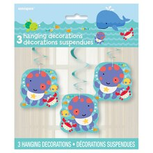 "26"" Hanging Under The Sea Decorations, 3ct"