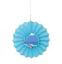 """12"""" Under The Sea Tissue Paper Decorative Fan"""