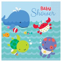 Under The Sea Baby Shower Luncheon Napkins, 20ct