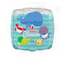 "18"" Square Foil Under The Sea Baby Shower Balloon"