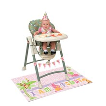 Pink Safari 1st Birthday High Chair Decorating Kit