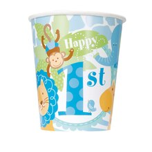 9oz Blue Safari 1st Birthday Paper Cup