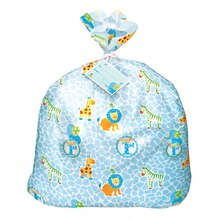 Jumbo Plastic Blue Safari 1st Birthday Gift Bag