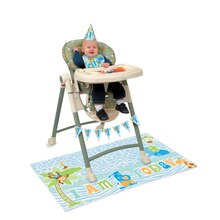 Blue Safari 1st Birthday High Chair Decorating Kit