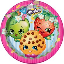 "9"" Shopkins Dinner Plates, 8ct"