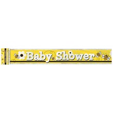 Foil Bumble Bee Baby Shower Banner, 12 Ft.