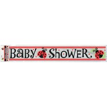 Foil Ladybug Baby Shower Banner, 12 Ft.