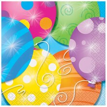 Twinkle Balloons Beverage Napkins, 16ct