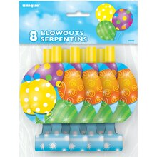 Twinkle Balloons Party Blowers, 8ct
