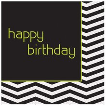 Designer Chevron Birthday Party Luncheon Napkins, 16ct