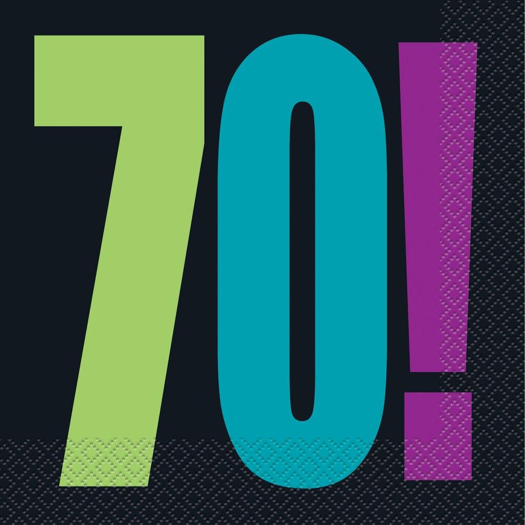 Birthday Cheer 70th Birthday Luncheon Napkins 16ct