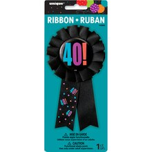 Birthday Cheer 40th Birthday Award Ribbon