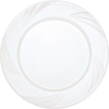 "7"" Etched Clear Plastic Plates, 10ct"