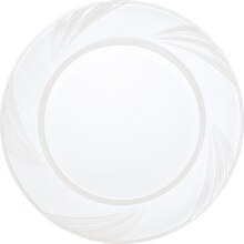 "9"" Etched Clear Plastic Plates, 8ct"