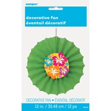 "Hibiscus Tissue Paper Decorative Fan, 12"", Package"